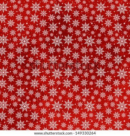 Christmas Snowflakes Pattern. Vector seamless texture - stock vector