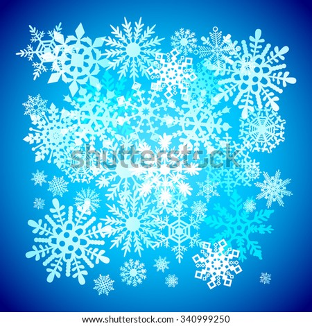 Christmas snowflakes snow winter holiday ornament illustration background art - stock vector