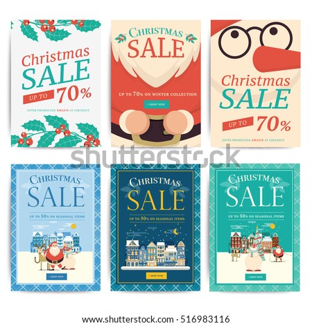 Christmas Social Media Sale Banners Mobile Stock Vector 516983116 ...
