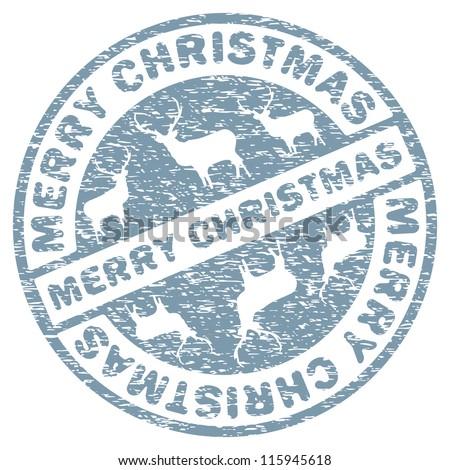 Christmas stamp template. And also includes EPS 8 vector - stock vector