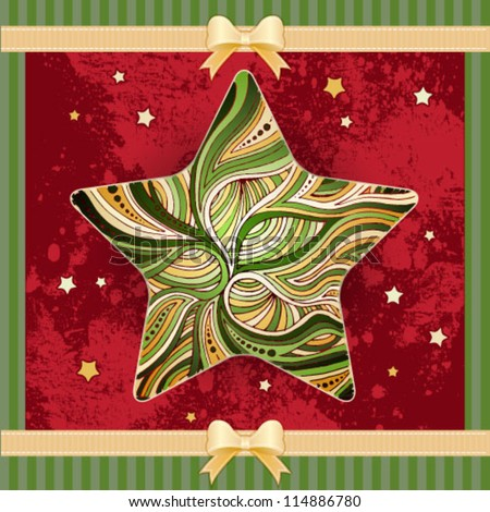 Christmas star background - stock vector