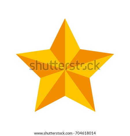 3d Gold Star Christmas Star Decoration Stock Vector 304606472 ...