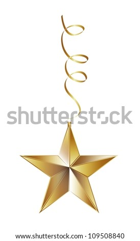 christmas star isolated over white background. vector illustration - stock vector