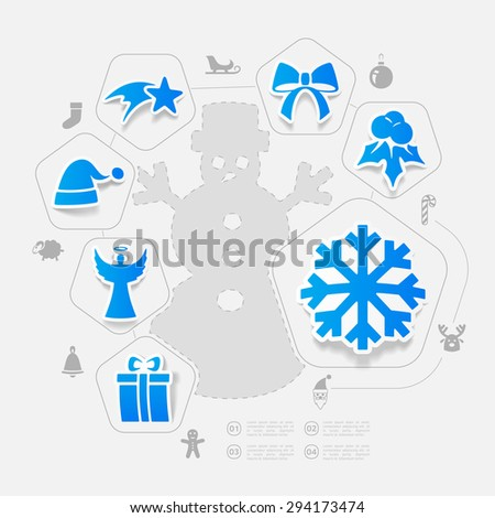 Christmas sticker infographic