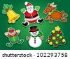 Christmas Stickers / Labels - stock vector