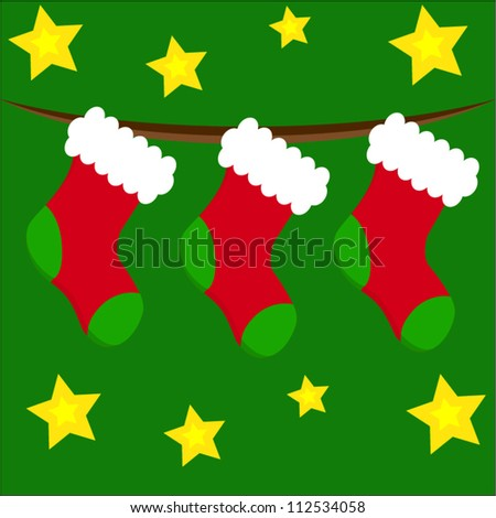 Christmas stockings - stock vector