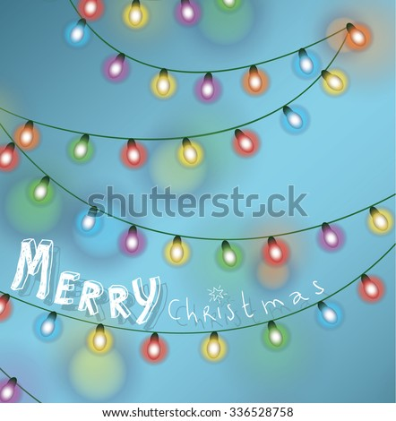Christmas string lights. vector illustration. - stock vector