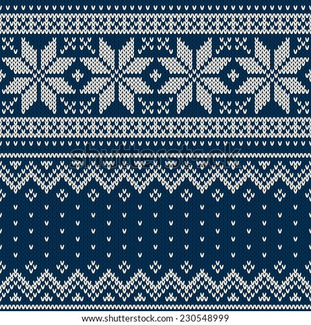 Christmas Sweater Design Seamless Knitting Pattern Stock Vector ...
