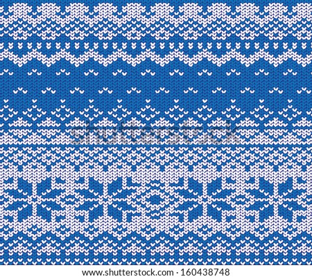 Christmas sweater's ornament - stock vector