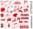 christmas symbols. vector illustration - stock vector