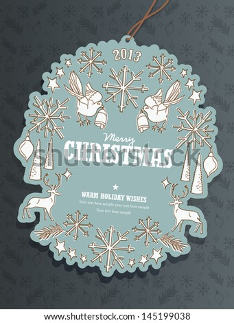 Christmas Tag - stock vector