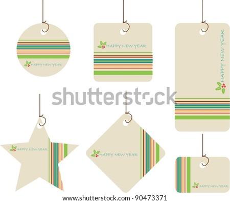 Christmas tags - stock vector