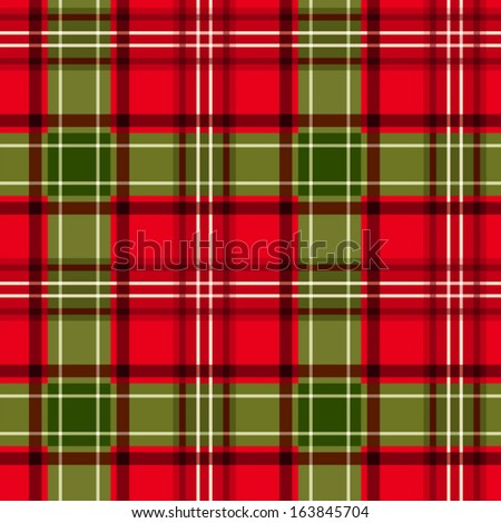 Christmas tartan. Vector seamless pattern. - stock vector