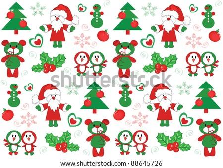 Christmas texture - stock vector