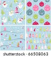 christmas texture, seamless patterns with fabric texture - stock vector