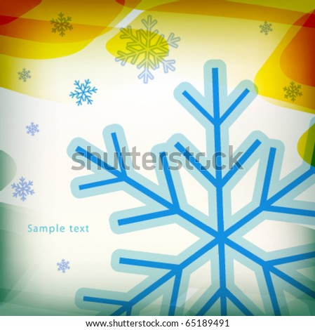 christmas time background design - stock vector