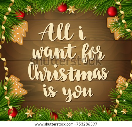 All I Want Christmas Is You Stock Images, Royalty-Free Images ...