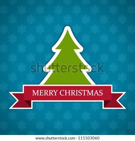 Christmas tree applique vector background - stock vector