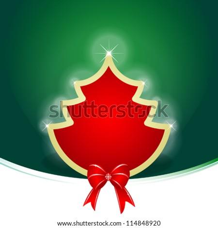 Christmas Tree Background - stock vector