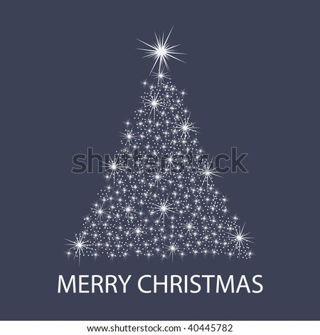 Christmas Tree Background: Stars