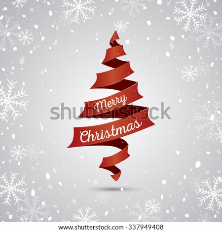 Christmas tree background. Vector illustration - stock vector