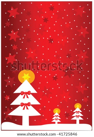 Christmas tree background. Vector illustration.
