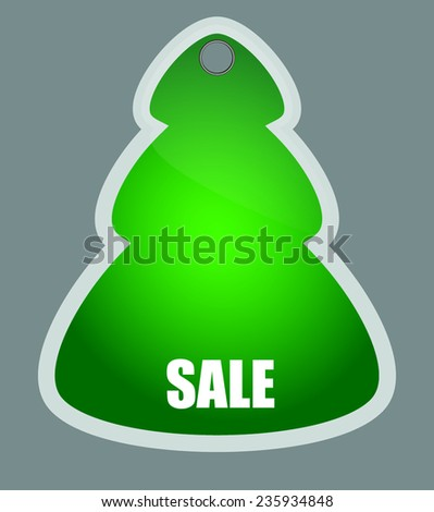 christmas tree badge. vector illustration - stock vector