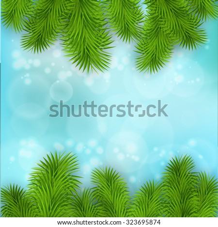 Christmas Tree Borders. Vector realistic illustration for your design. - stock vector