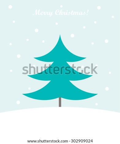Christmas tree card. Vector illustration - stock vector