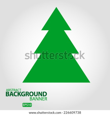 Christmas tree Christmas card. Vector EPS 10 illustration. - stock vector