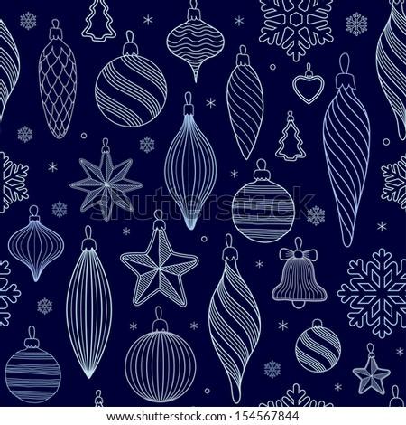 Christmas tree decorations - stock vector