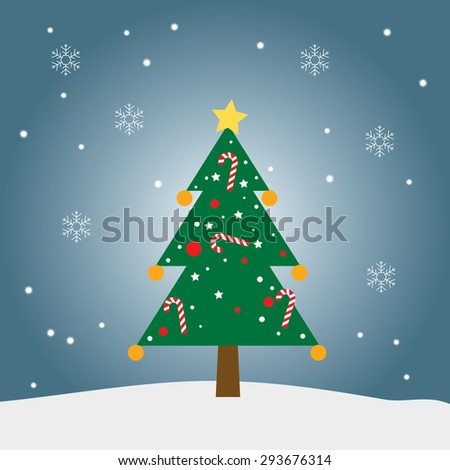 Christmas tree drawing vector graphic illustrate eps10 , Christmas ornament graphic - stock vector