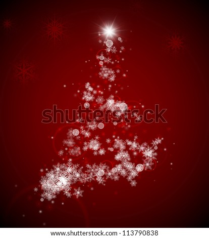 Christmas tree from snowflakes. Eps 10 - stock vector