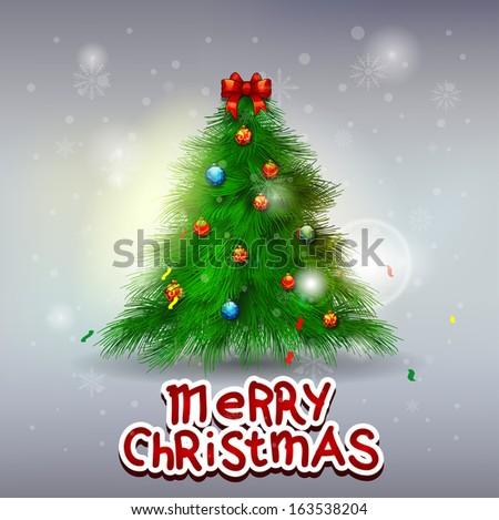 Christmas tree Greeting Card - stock vector