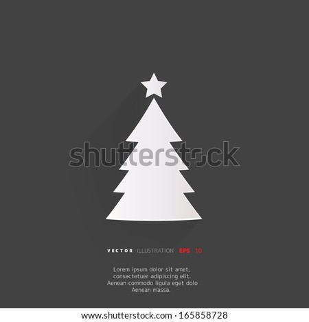Christmas tree icon - stock vector