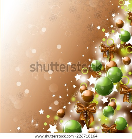 Christmas Tree Illustration. Vector Background.