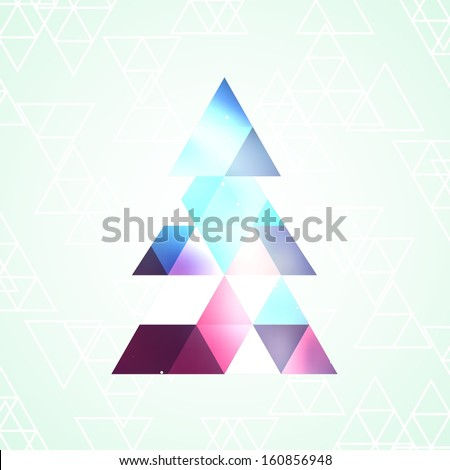 Christmas tree isolated , vector illustration - stock vector