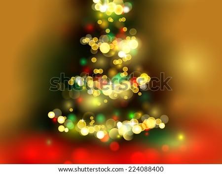 Christmas tree light background. Vector eps 10 - stock vector