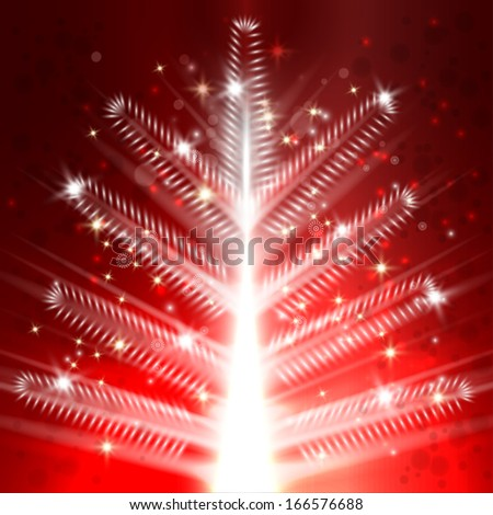 Christmas tree light vector background - stock vector