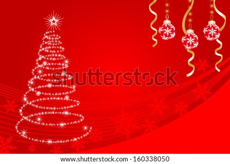 Christmas tree of sparkling- EPS10 - stock vector