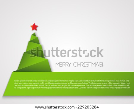 Christmas tree paper design - stock vector