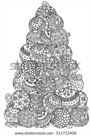 Holiday Coloring Page Stock Images Royalty Free Images Vectors