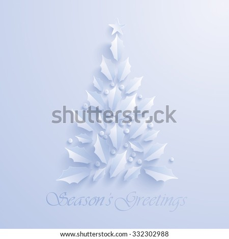 Christmas tree. Seasons Greeting. - stock vector
