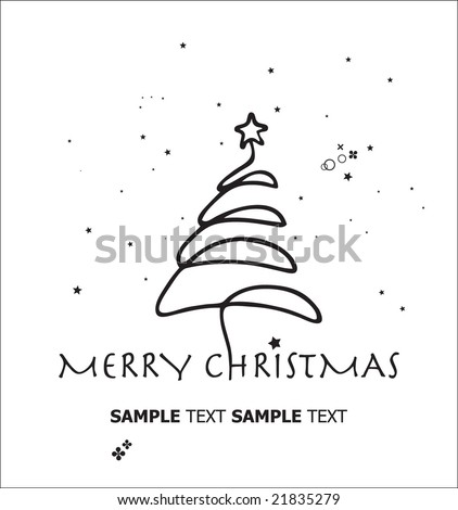 Christmas Tree. Template. For More Vectors VISIT MY GALLERY. - stock vector