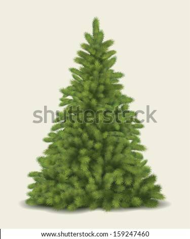 Christmas tree. Vector - stock vector
