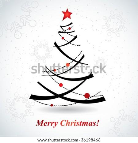 Christmas tree. vector - stock vector