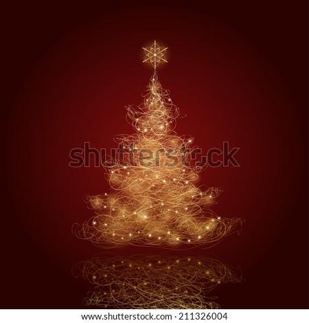 Christmas Tree, vector eps9 - stock vector