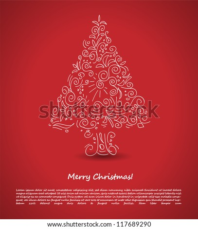 Christmas tree. Vector Illustration - stock vector