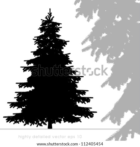 Christmas tree vector with highly details. - stock vector