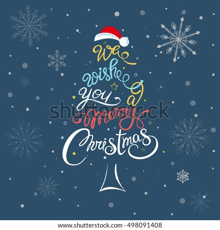 We wish you merry christmas beautiful stock vector for A text decoration
